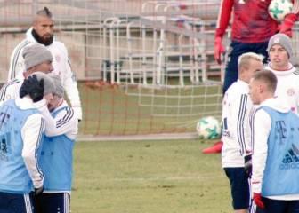 Pelea entre James y Rudy en el entrenamiento del Bayern