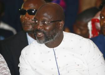 Weah, el único Balón de Oro africano, presidente de Liberia