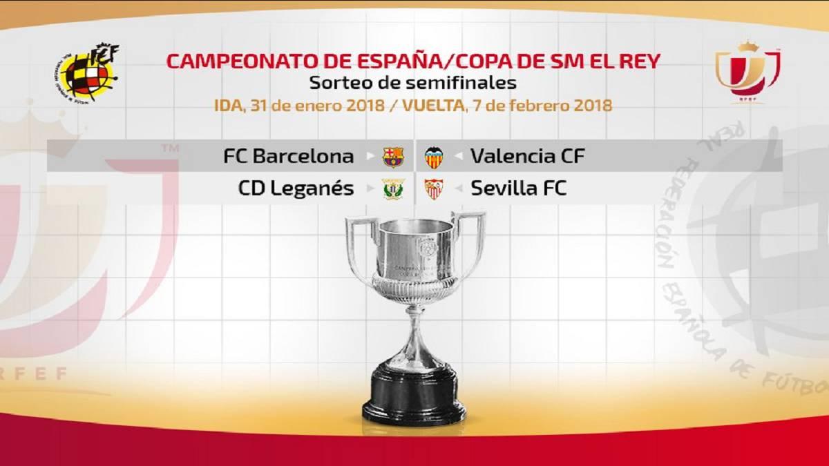 Resultado del sorteo de Semifinales de la Copa del Rey: Barça ...