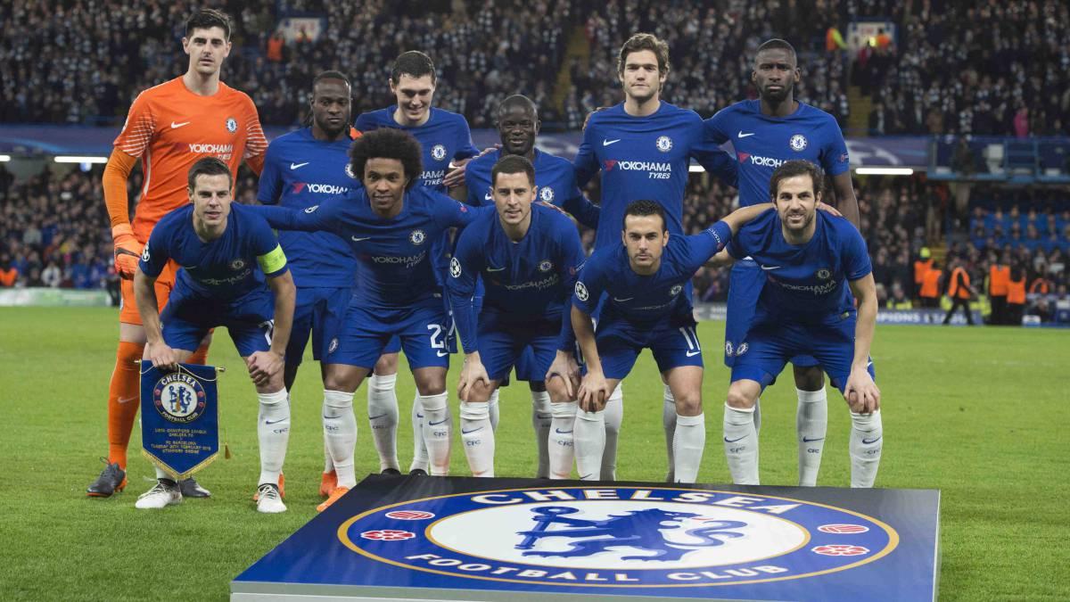 Barcelona: El Chelsea salió de inicio ante el Barça sin jugadores ingleses  - AS.com