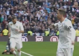 Cristiano le dedicó su gol a Benzema y le dejó el penalti