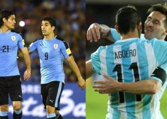 Argentina y Uruguay: duelo de goleadores en Rusia
