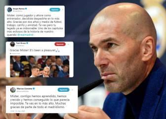Sigue las reacciones a la marcha de Zidane en directo