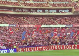 Proponen multar al Atlético por una pancarta del 'Frente'