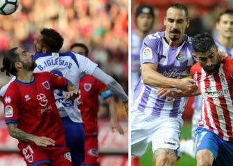 Zaragoza-Numancia y Sporting -Valladolid, de alto riesgo