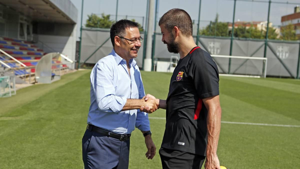 Barcelona bartomeu reprender a gerard piqu a su regreso for Horario oficina ing barcelona