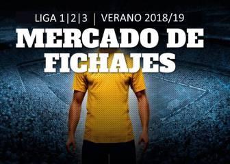 Mercado de fichajes Liga 1|2|3 2018/19: las últimas noticias