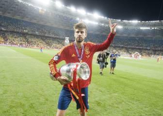 La trayectoria de Piqué con la selección española
