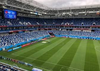 Así está el césped de Kaliningrado a 24 horas del partido de España