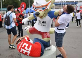Roban una estatua de dos metros de la mascota del Mundial
