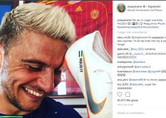 """Joaquín ya luce el famoso """"Hulio"""" en sus botas (de fútbol)"""