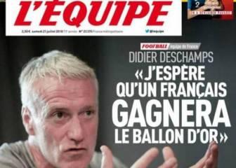 """Deschamps: """"Espero que un francés gane el Balón de Oro"""""""