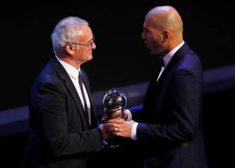 Simeone, Zidane y Valverde, nominados para The Best
