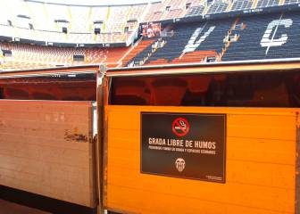 Valencia: primer partido en la historia de Mestalla ?sin humos?