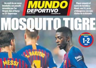 Supercopa de Dembélé y Messi en las portadas catalanas