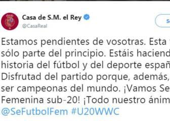 """La casa real dio """"ánimo"""" a la Selección española Sub-20"""