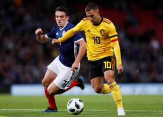 Bélgica goleó a Escocia y sigue con su gran momento de forma