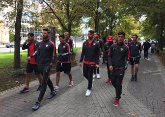 El Sevilla se relaja paseando por las calles de Krasnodar
