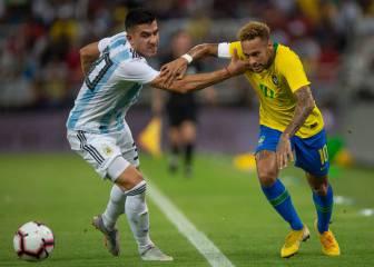 Brasil vence a Argentina y al calor con un gol de Miranda