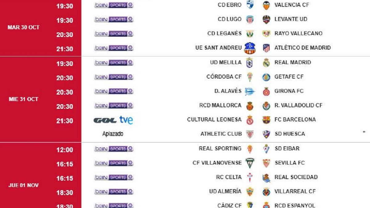 Ya se conocen los horarios de la ida de dieciseisavos de Copa - AS.com