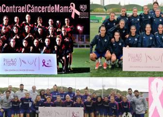 El fútbol femenino se vuelca en el día contra el cáncer de mama