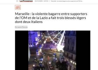 Marsella-Lazio: varios heridos tras una pelea de madrugada