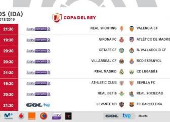 Consulta los horarios de la ida de los octavos de Copa