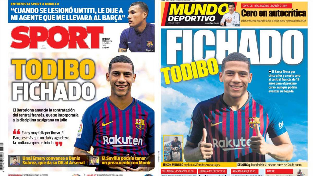 Jean-Clair Todibo dominates Catalan sports press front pages - AS.com c1c0259092f
