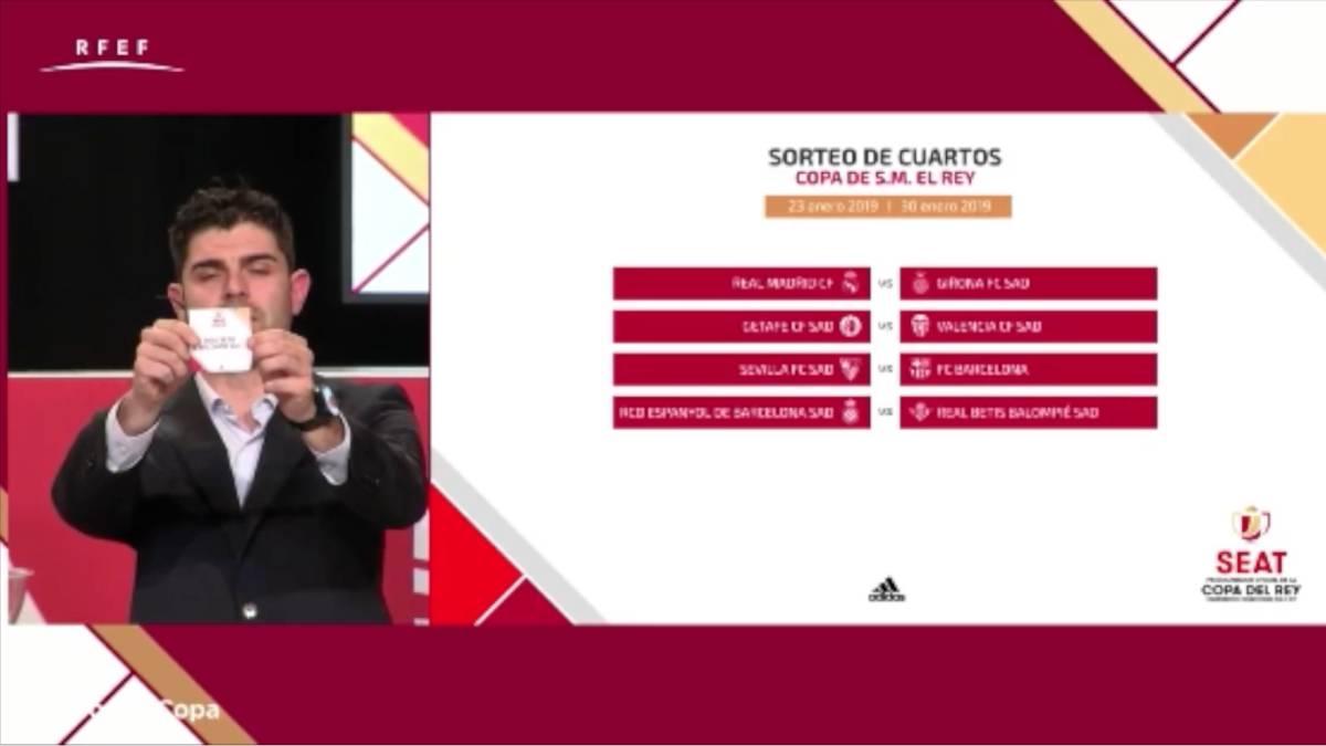 Real Madrid-Girona y Sevilla-Barça en cuartos de Copa del Rey - AS ...