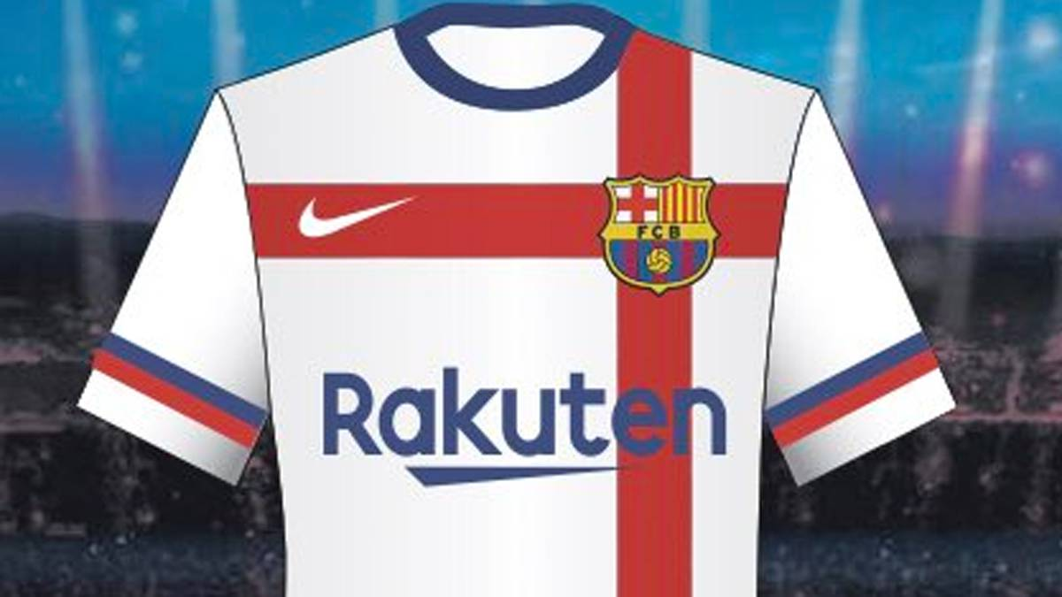 c0b9a0ffded Barcelona reject white jersey design by Nike - AS.com