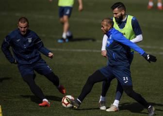 Silva y Santos no se entrenan y apuntan a duda ante el Levante