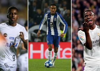 Militao, Rodrygo y Vinicius entre los 5 brasileños sub-21 mejor valorados
