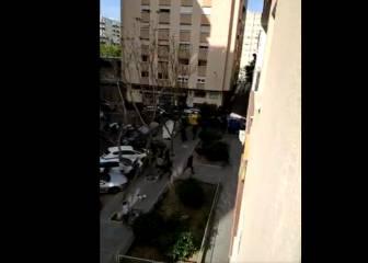 Dos detenidos en una pelea entre ultras de Cádiz y Málaga