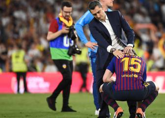 Ernesto Valverde duda si seguir; es la hora de Bartomeu
