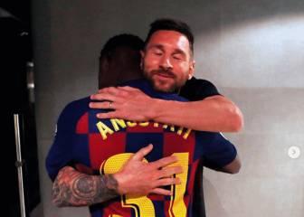 Emotivo mensaje de Messi a Ansu Fati y a Carles Pérez