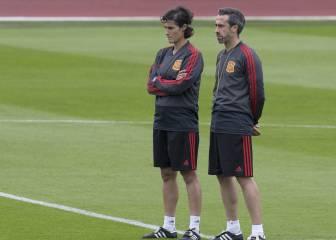 La Selección española se ejercitó a parte de la Promesas 1