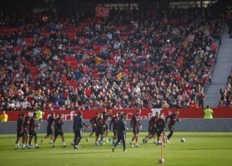 Sevilla Multitudinario entrenamiento a puerta abierta del Sevilla 2