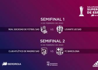 Atlético-Barcelona y Levante-Real, duelos de la Supercopa
