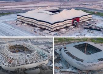 Tres estadios de Qatar 2022 en la fase final de construcción