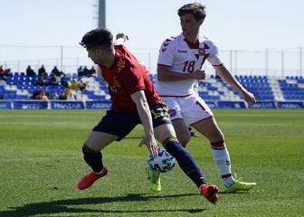 España sub-19 empata ante Dinamarca con gol de Camello