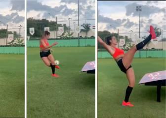 Impacta el nivel: el espectacular punto que Natalia Guitler gana a uno de los futbolista más famosos de Brasil 1