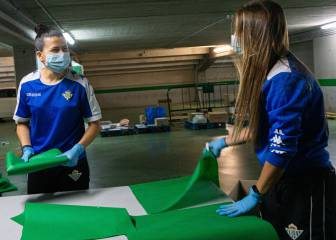 El Betis más solidario se une a la fabricación de material sanitario