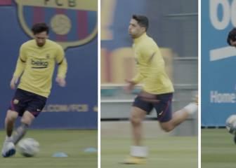Las imágenes que todo culé ansiaban ver: Messi peloteando y Luis Suárez esprintando