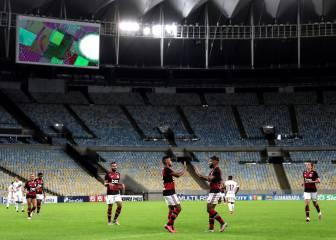 El Flamengo vence en la vuelta del fútbol en Brasil y Sudamérica