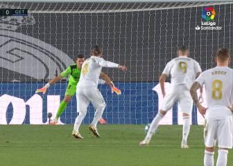 Ramos y su decisión-reacción al ir directo al Panenka y ver que el portero no se movía