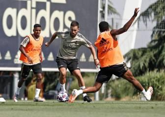 El Madrid vuelve al trabajo con Hazard y Marcelo listos