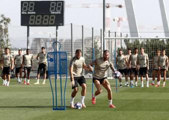 Zidane se centra en el trabajo físico y táctico tras el parón