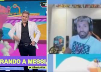"""""""¿Le dejaste el '10' a Messi?"""": TyC Sports se cuela en el directo de Agüero y así reacciona..."""