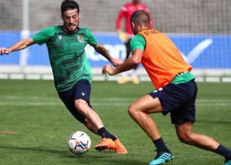 Silva supera el coronavirus y por fin entrena en Zubieta