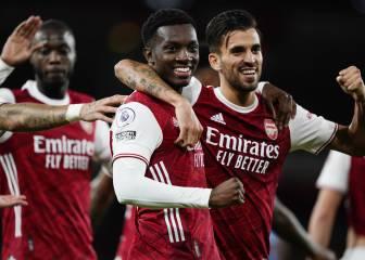 La conexión Ceballos-Nketiah salva el pleno del Arsenal